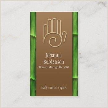 Massage Therapy Business Cards Unique Body Massage Business Cards