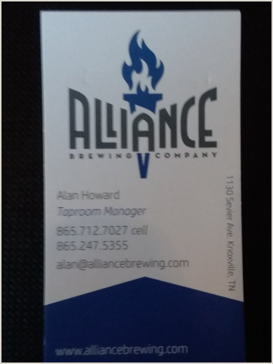 Media Company Business Cards Alliance Brewing Pany Knoxville 2020 All You Need To