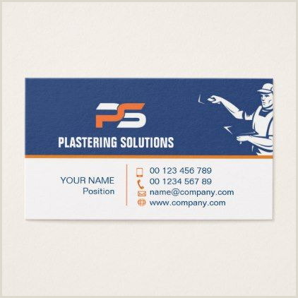 Media Company Business Cards Business Card For Plastering Specialist