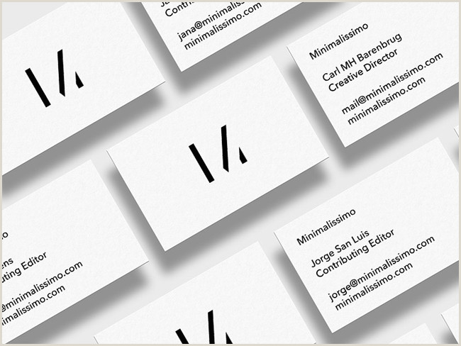 Minimalist Business Card Design 20 Best Minimalistic Business Cards Designs