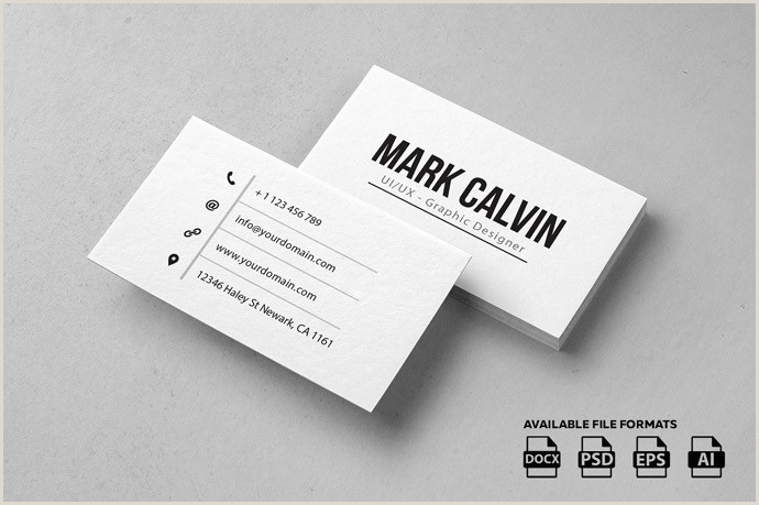 Minimalist Business Card Design 30 Simple & Minimal Business Card Templates For 2020