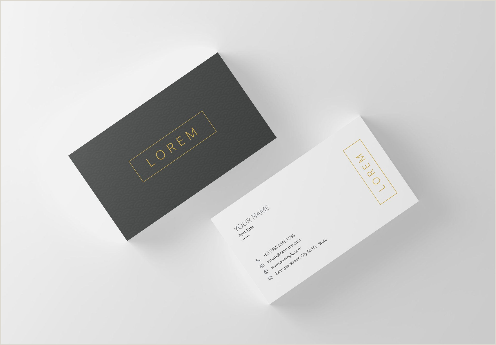 Minimalist Business Card Design Professional Business Card Template Printable Business