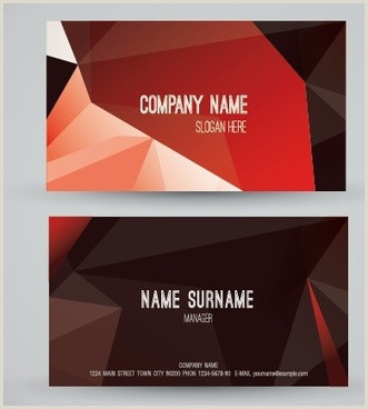 Modern Business Card Design Vector Modern Business Card Free Vector 33 807
