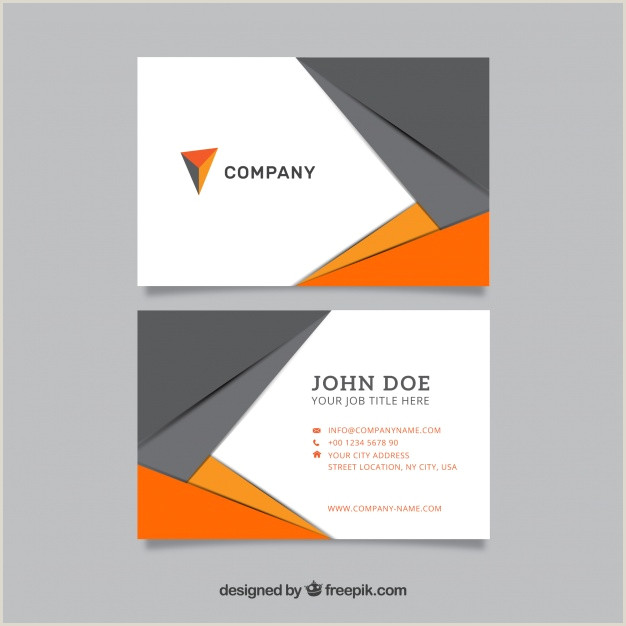 Modern Business Card Download Vector Modern Business Card In Gray And Orange