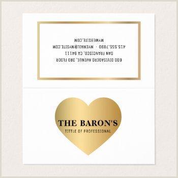 Modern Business Card Heart Design Business Cards