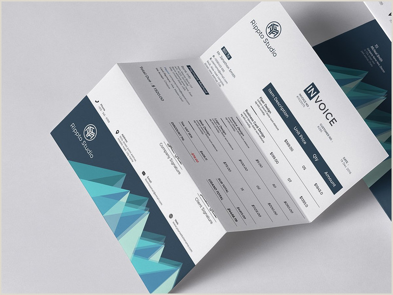 Modern Business Card Ideas 256 Invoices Design Inspiration Ideas And Examples Muzli