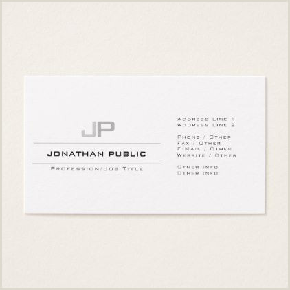 Modern Business Card Ideas Professional Monogram Clean Plain Elegant Modern Business