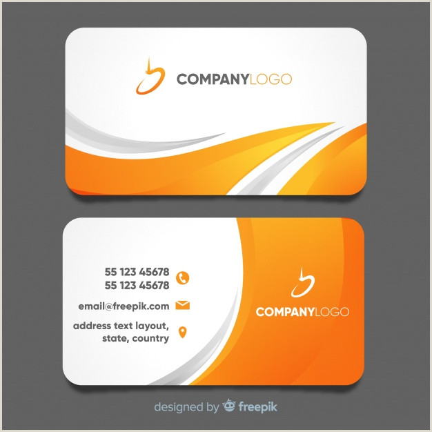Modern Business Card Templates Free Free Vector
