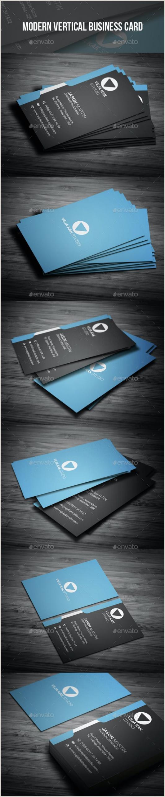 Modern Vertical Business Cards Modern Vertical Business Card By Vejakakstudio