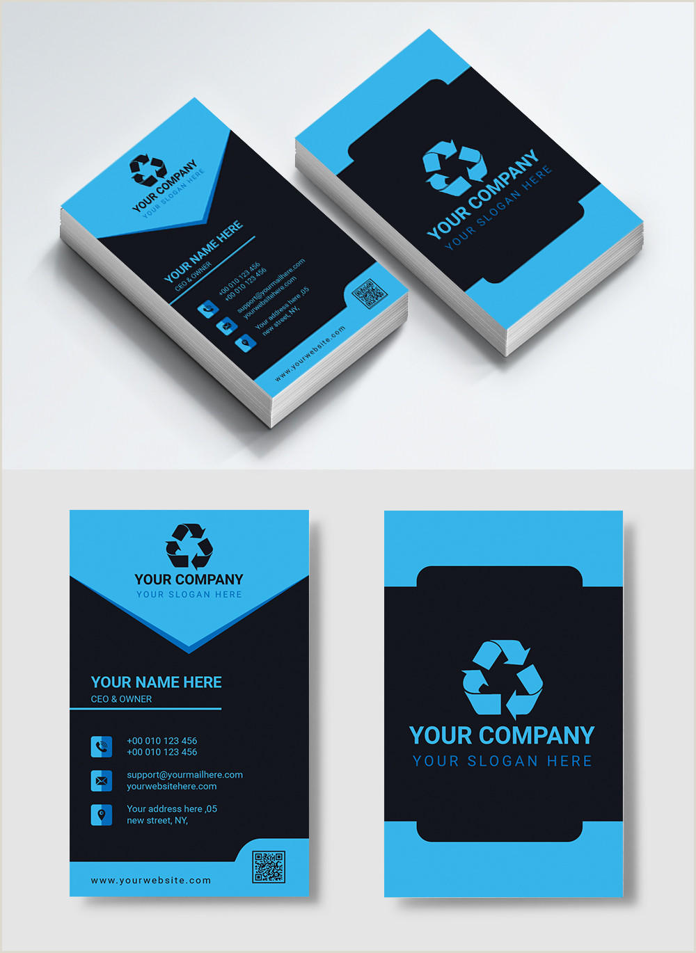 Modern Vertical Business Cards Modern Vertical Business Card Design Template Image Picture