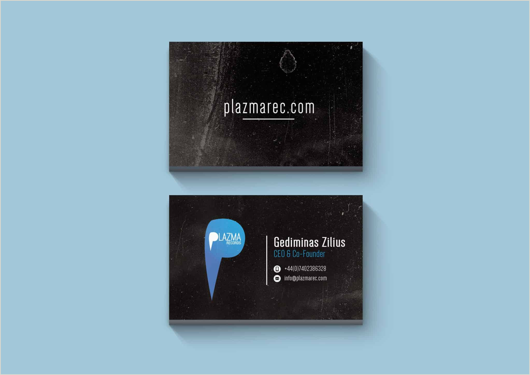 Modern Vertical Business Cards Record Label Business Cards Pensandpieces