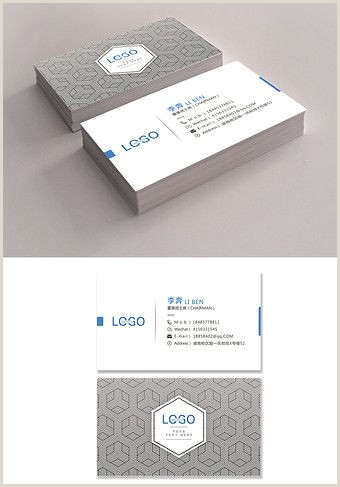 Mood Business Cards Blue Black Business Simple Card