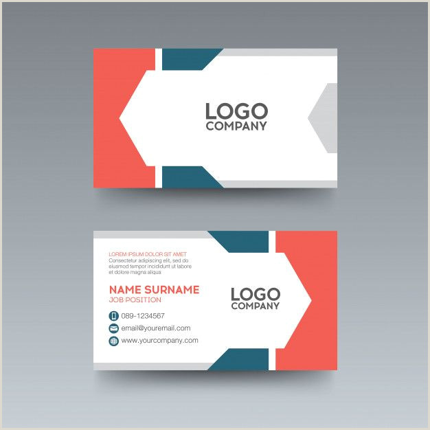 Mood Business Cards Modern Business Card With Geometric Blue Orange Color In