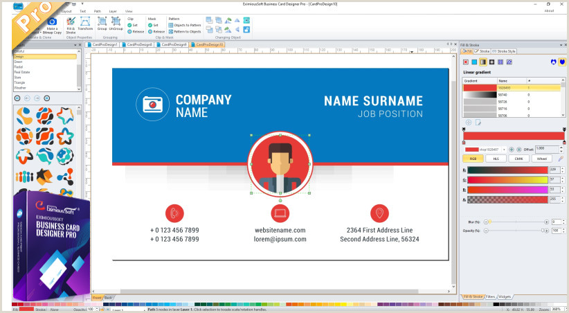 My Professional Business Cards Business Card Software Business Card Maker Make Free