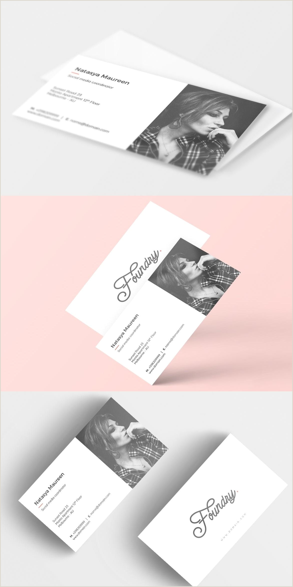 Name Card Printing Foundry Creative Business Card By Micromove On Envato