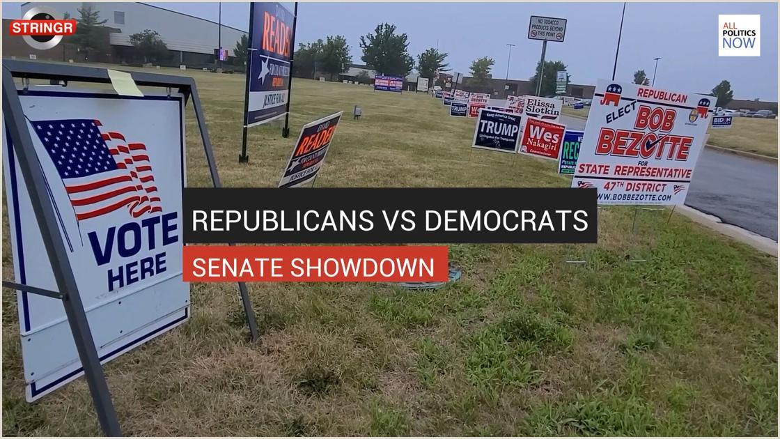 Name Card Printing Republicans Vs Democrats Senate Showdown