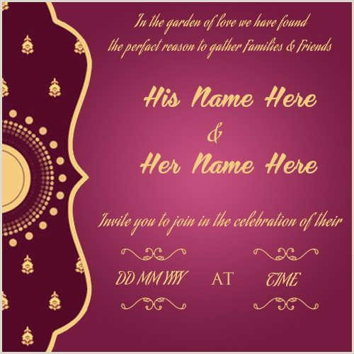Name Card Template Wedding Create Wedding Invitation Card Line Free