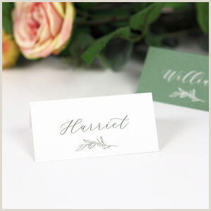 Name Card Template Wedding Wedding Place Cards