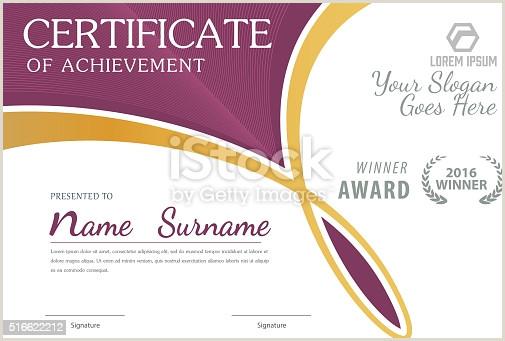 Name Card Templates Certificate Templatediploma Layouta4 Size Vector Stock