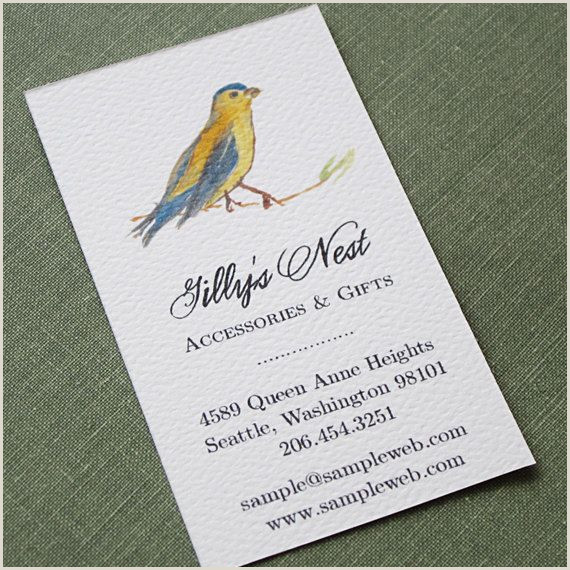 Nancy Nikko Unique Business Cards Business Card With Bird Illustration By Nancy Nikko Design