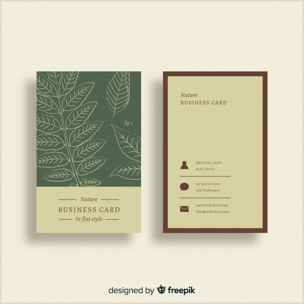 Nature Business Cards Free Vector