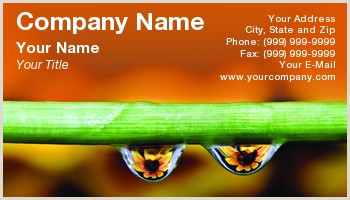Nature Business Cards Nature Business Cards
