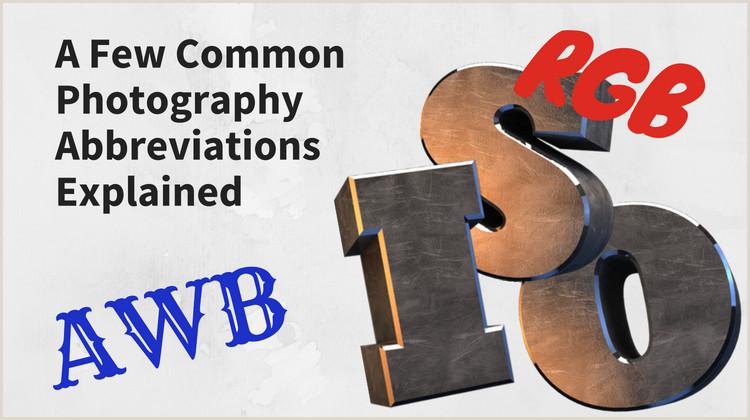 Nature Photographer Business Cards Unique 23 Mon Graphy Abbreviations Explained
