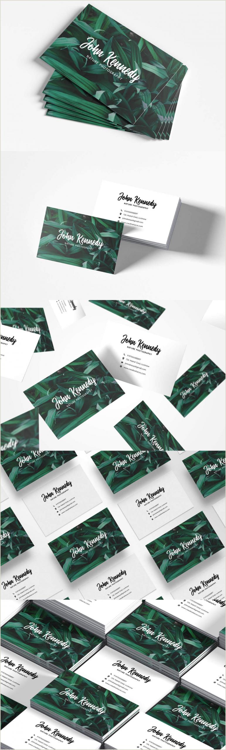 Nature Photographer Business Cards Unique Free Nature Graphy Business Card Creativetacos