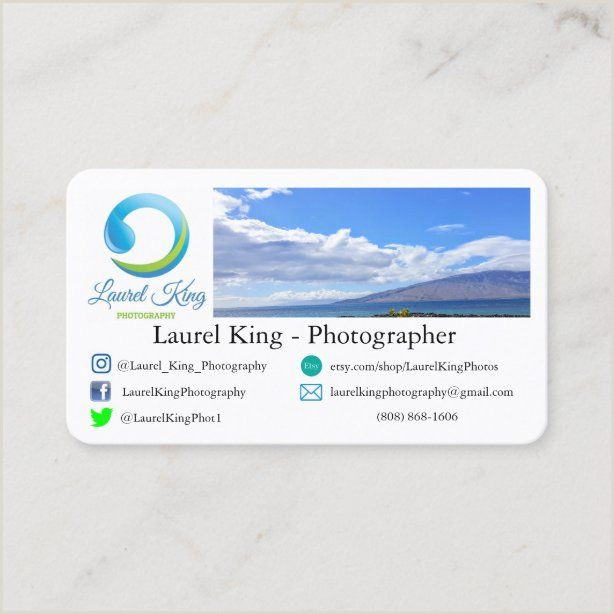 Nature Photographer Business Cards Unique Nature Graphy Business Card