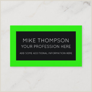 Neon Green Business Cards Neon Green Business Cards Business Card Printing