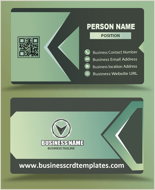 New Green Card Design 2020 Light Green Color Business Card Design Psd Eps Free