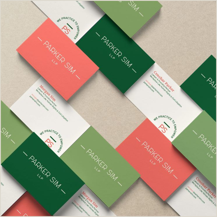 New Green Card Design 2020 Parker Sim Llp Business Card In 2020