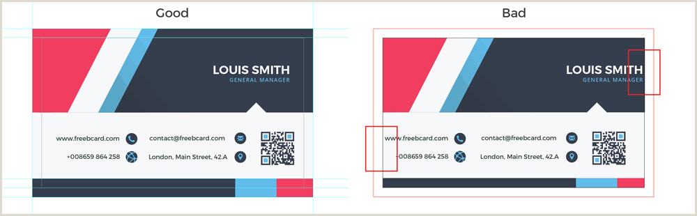 Normal Size Of Business Card Business Card Size Specifications