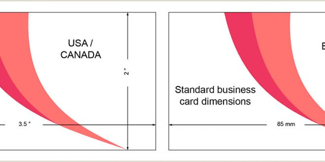 Normal Size Of Business Card Standard Business Card Size Characteristics and Dimensions