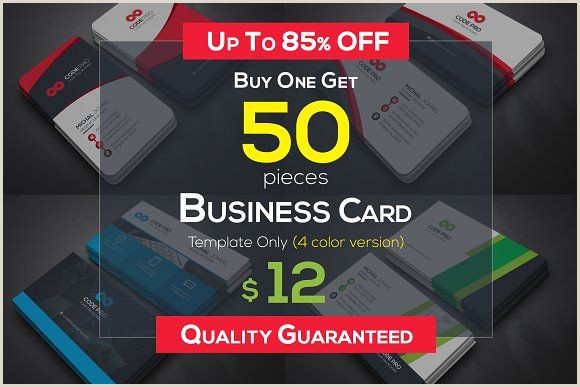 One Color Business Cards 50 Business Cards Bundle In 2020