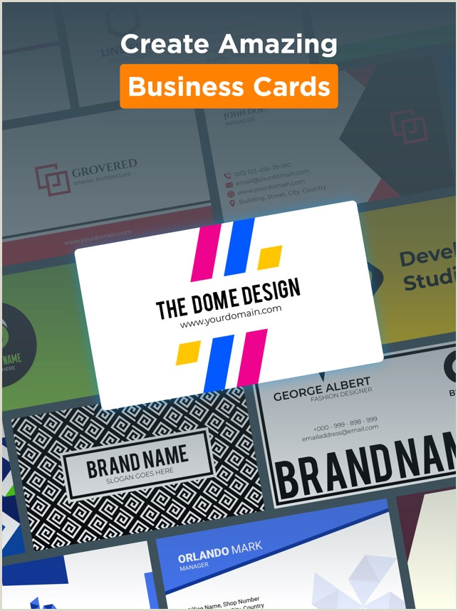 One Color Business Cards Logo Maker Design Monogram On The App Store