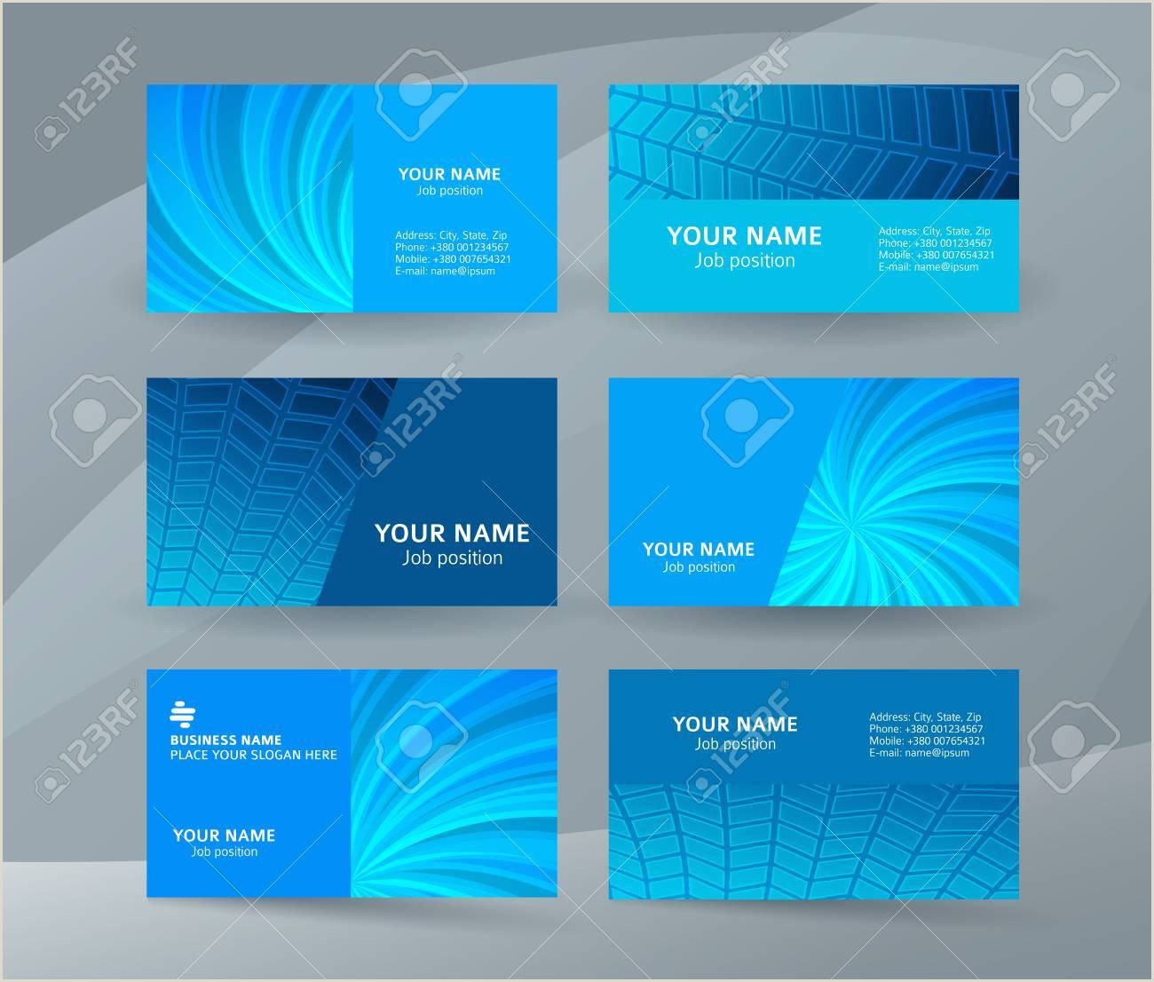 One Sided Business Card Designs Abstract Professional And Designer Business Card One Sided Template