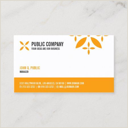 One Sided Business Card Designs Simple Corporate E Sided Business Card