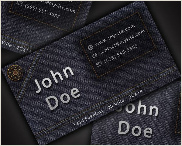 Original Business Card Design A Cool And Original Jeans Style Business Card In