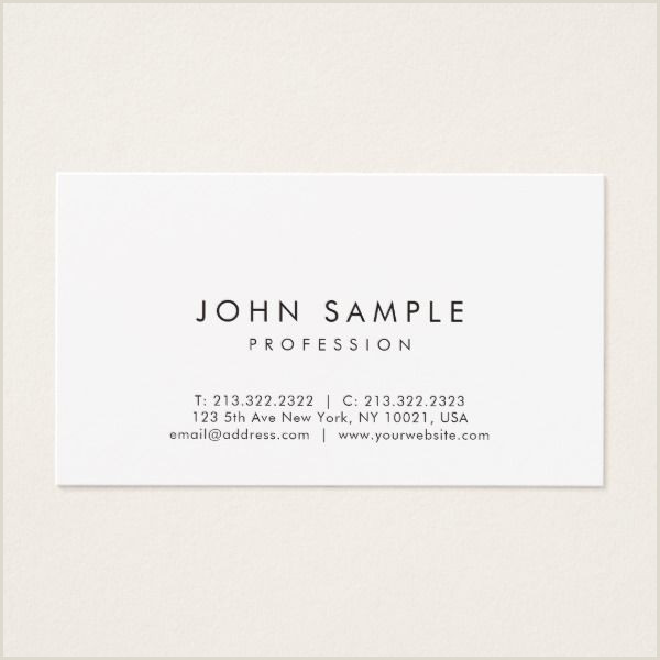 Own Business Cards Modern Professional Elegant Simple Design White Business