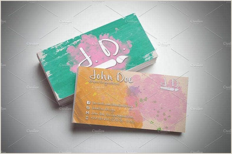 Painting Business Card Ideas 22 Painter Business Card Designs & Templates Psd Ai