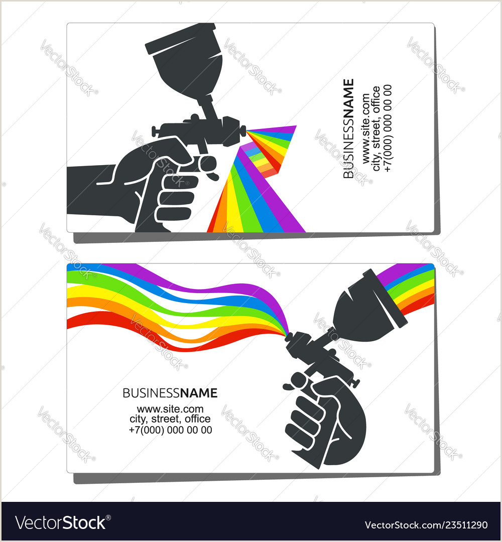 Painting Business Card Ideas Business Card For Painting Design Vector Image