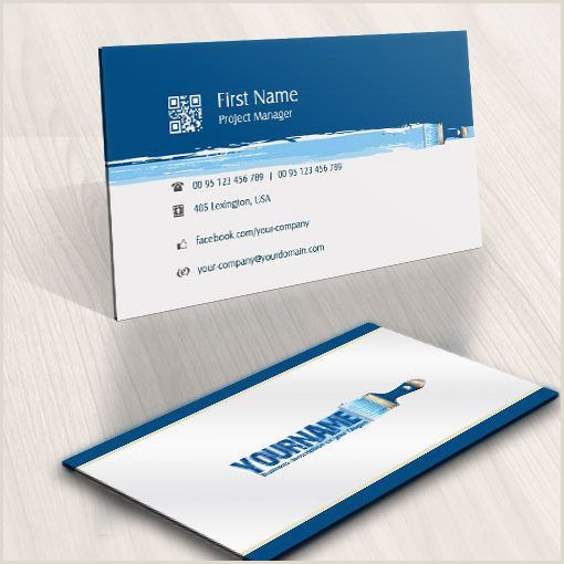 Painting Business Card Ideas Exclusive Design Art Paint Brush Logo Patible Free