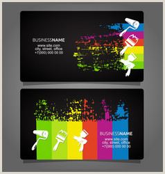 Painting Business Card Ideas Painters Business Cards Vector Over 290