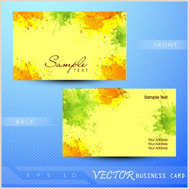 Painting Business Card Ideas Painting Business Cards Free Vector 31 184 Free
