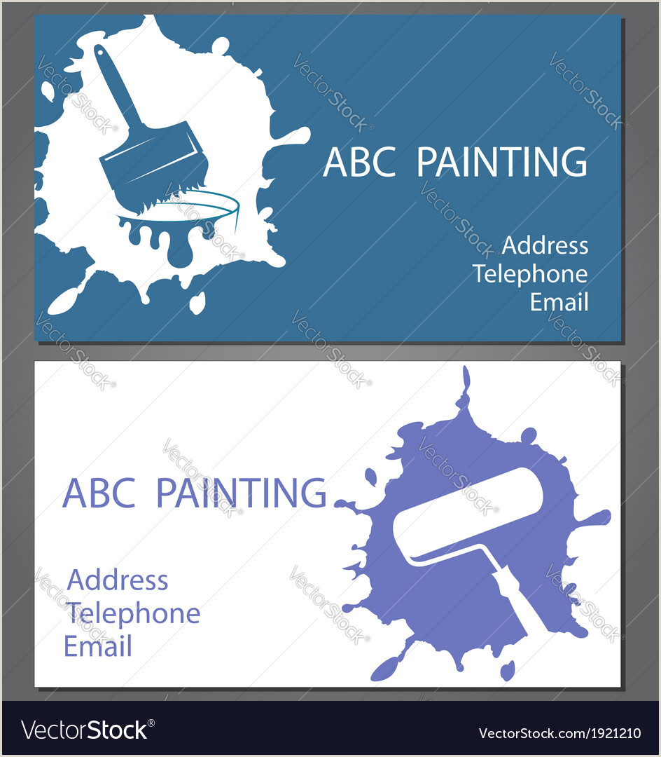 Painting Business Card Ideas Template Cards For Painting Vector Image