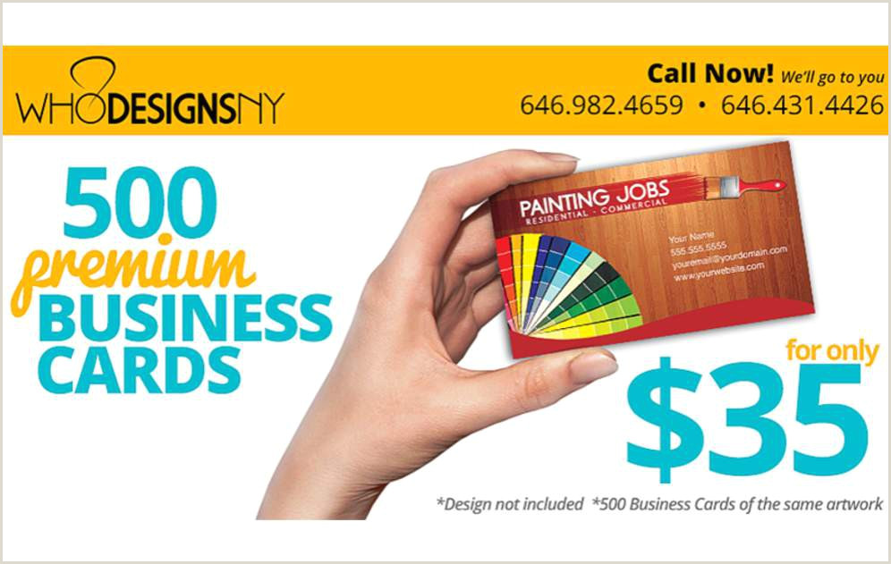 Painting Logos For Business Cards Who Designs Ny 500 Business Cards For $35 & F