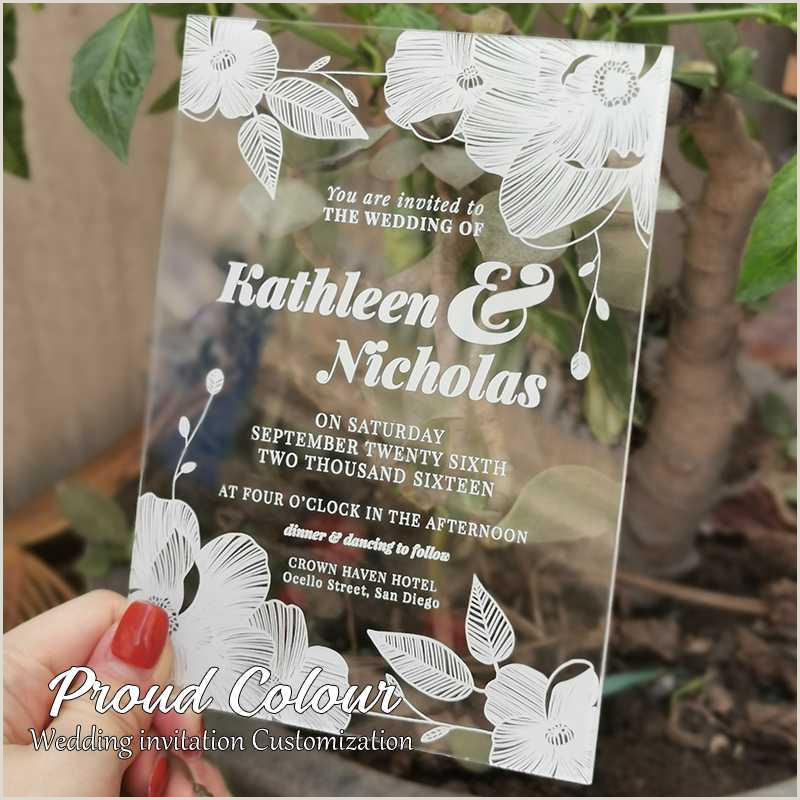 Party Best Business Cards Acrylic Wedding Invitation Design Custom Wedding Decoration Invitation Cards Postcard Thank You Cards Announcement Congratulations Cards