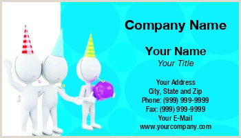 Party Best Business Cards Party Planner Business Cards