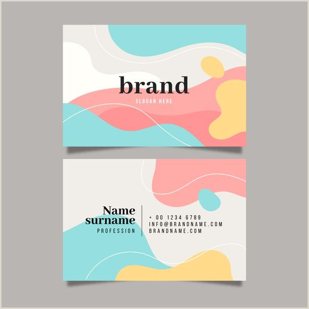 Pastel Business Cards 24 Best Invitation Card Design Creative Template For July 2020